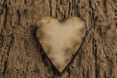 Template with wooden hearts Royalty Free Stock Images