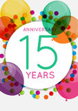 Template 15 Years Anniversary Congratulations, Greeting Card, Invitation Vector Illustration. EPS10 Vector Illustration