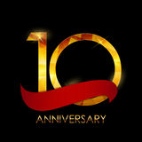 Template 10 Years Anniversary Congratulations Vector Illustratio Royalty Free Stock Photos