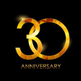 Template 30 Years Anniversary Congratulations Vector Illustratio Royalty Free Stock Images