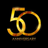 Template 50 Years Anniversary Congratulations Vector Illustratio Royalty Free Stock Photo