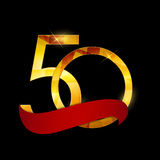 Template 50 Years Anniversary Congratulations Vector Illustratio Royalty Free Stock Image