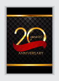 Template 20 Years Anniversary Congratulations Vector Illustratio. N EPS10r Royalty Free Illustration