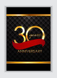 Template 30 Years Anniversary Congratulations Vector Illustratio. N EPS10r Stock Photo
