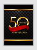 Template 50 Years Anniversary Congratulations Vector Illustratio Royalty Free Stock Photos