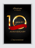 Template 10 Years Anniversary Congratulations Vector Illustration. EPS10n Vector Illustration