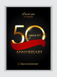 Template 50 Years Anniversary Congratulations Vector Illustration Royalty Free Stock Photography