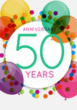 Template 50 Years Anniversary Congratulations Vector Illustration Stock Photography