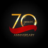 Template 70 Years Anniversary Vector Illustration. EPS10 Royalty Free Stock Images