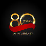 Template 80 Years Anniversary Vector Illustration. EPS10 Royalty Free Stock Image