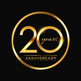 Template 20 Years Anniversary Vector Illustration. EPS10 Royalty Free Stock Images