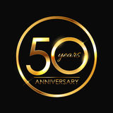 Template 50 Years Anniversary Vector Illustration Stock Photos