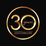 Template 30 Years Anniversary Vector Illustration. EPS10 Royalty Free Stock Photography