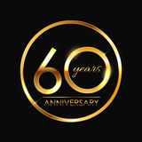 Template 60 Years Anniversary Vector Illustration Royalty Free Stock Photos