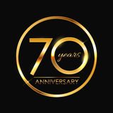 Template 70 Years Anniversary Vector Illustration. EPS10 Royalty Free Stock Photography