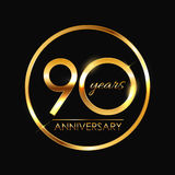 Template 90 Years Anniversary Vector Illustration. EPS10 Stock Images