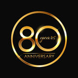 Template 80 Years Anniversary Vector Illustration. EPS10 Stock Image