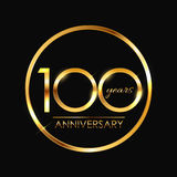 Template 100 Years Anniversary Vector Illustration. EPS10 Royalty Free Stock Photography