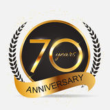 Template 70 Years Anniversary Vector Illustration. EPS10 Royalty Free Stock Image