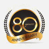 Template 80 Years Anniversary Vector Illustration. EPS10 royalty free illustration
