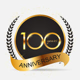 Template 100 Years Anniversary Vector Illustration Stock Images