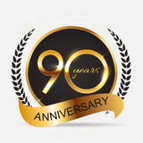 Template 90 Years Anniversary Vector Illustration. EPS10 Royalty Free Stock Photos