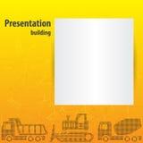 介绍Template.Yellow企业向量 免版税图库摄影