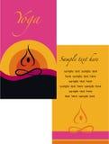 Template of yoga brochure Stock Photos