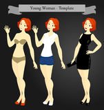 Young Woman_Template Royalty Free Stock Image