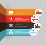 Template for your business presentation. With arrows and text areas (info graphic Stock Photography