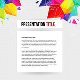 Template for Your business presentation. Geometric background. V Royalty Free Stock Images