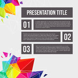 Template for Your business presentation. Geometric background. V Royalty Free Stock Image