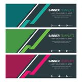 Abstract Header or Banner with Geometric Shape 4. Template for your bussines website or advertising Abstract Header or Banner with Geometric Shape royalty free illustration
