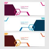 Template for bussines website or advertising Vector abstract design banner web template 9. Template for your bussines website or advertising Vector abstract Stock Illustration