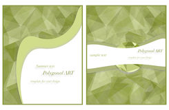Template for your design in green colors. Polygonal bitmap stock illustration