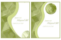 Template for your design in green colors. Polygonal bitmap royalty free illustration