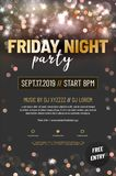 Template for your party poster with sample text stock illustration