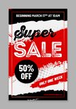Template for your SALE design with sample text vector illustration