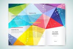 Templatee astratto di progettazione dell'aletta di filatoio o dell'opuscolo Fotografie Stock Libere da Diritti