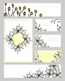 Templates with abstract elements for branding and identity. vector illustration
