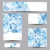 Templates with abstract geometrical triangles Stock Photos