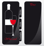 Templates of alcohol card Royalty Free Stock Image
