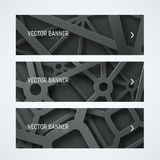 Templates banners  with interwoven cobwebs from metal chrome lin Stock Photo