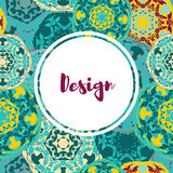 Templates banners set. Floral mandala pattern and ornaments. Stock Photos