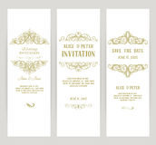 Templates with banners vintage design elements Stock Images