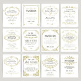 Templates with banners vintage design elements Stock Photo