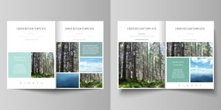 Templates for bi fold brochure, flyer, booklet or report. Cover design template, abstract vector layout in A4 size. Business templates for bi fold brochure vector illustration