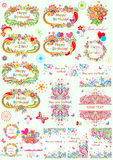 Templates for birthday party Royalty Free Stock Photo
