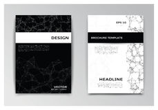 Templates of brochure with abstract elements Royalty Free Stock Photography