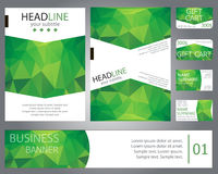 Templates brochure design, banner, gift cards, business cards. S Stock Images